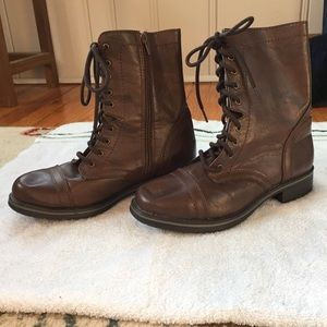 SO Faux Leather Lace-Up Boots
